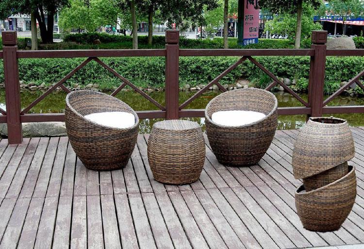 Set di mobili da giardino in rattan n.02