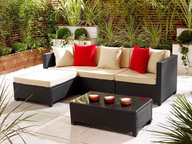Set di mobili da giardino in rattan n.05