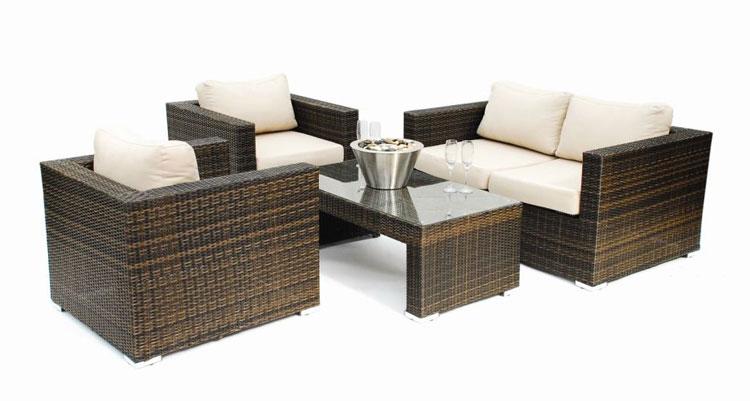 Set di mobili da giardino in rattan n.06