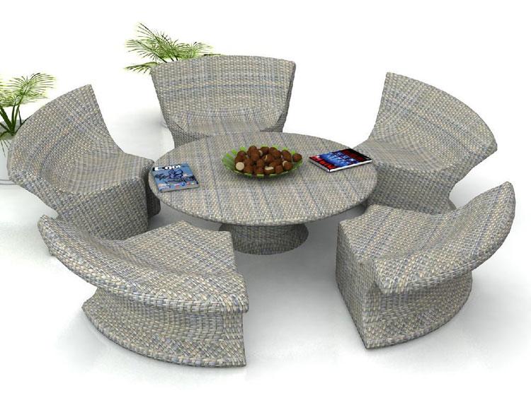 Set di mobili da giardino in rattan n.11