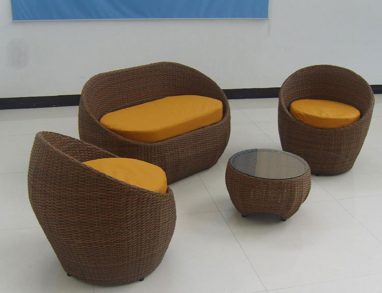 Set di mobili da giardino in rattan n.14