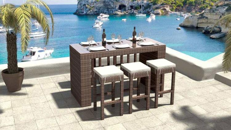 Set di mobili da giardino in rattan n.15