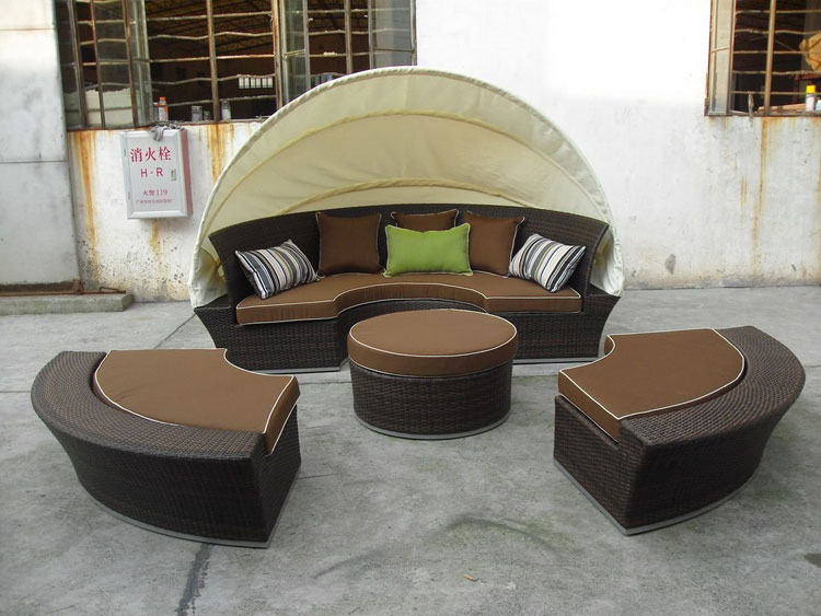 Set di mobili da giardino in rattan n.16