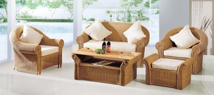 Set di mobili da giardino in rattan n.17