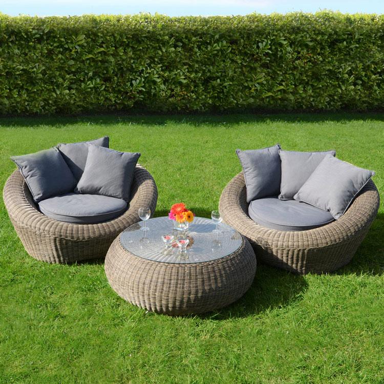 Set di mobili da giardino in rattan n.21