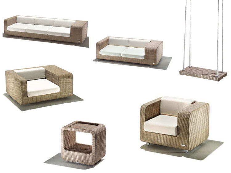 Set di mobili da giardino in rattan n.24
