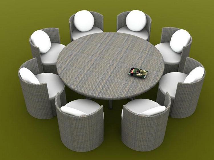 Set di mobili da giardino in rattan n.25