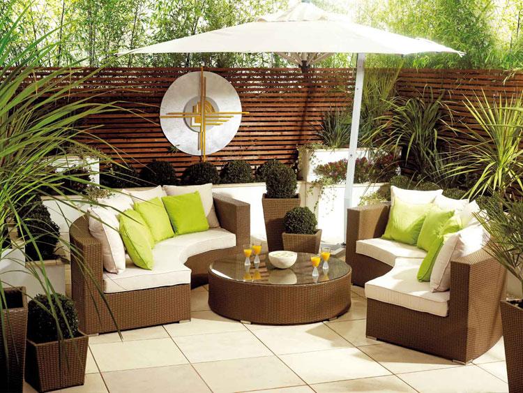 Set di mobili da giardino in rattan n.26