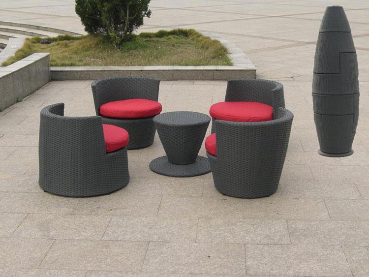 Set di mobili da giardino in rattan n.27