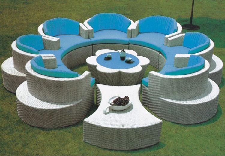 Set di mobili da giardino in rattan n.28
