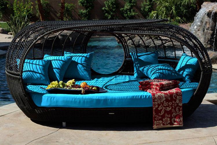 Set di mobili da giardino in rattan n.33