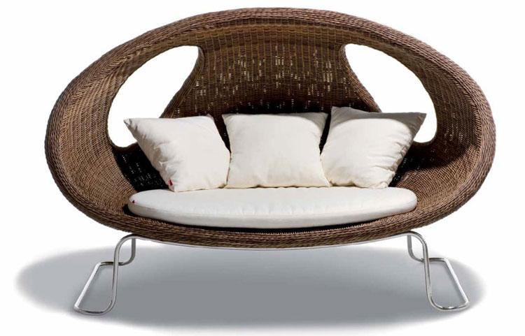Set di mobili da giardino in rattan n.35