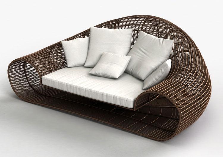 Set di mobili da giardino in rattan n.38