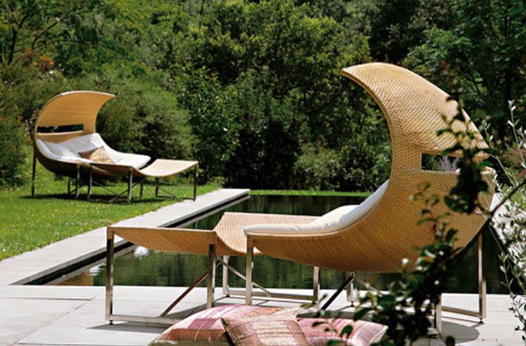 Set di mobili da giardino in rattan n.40