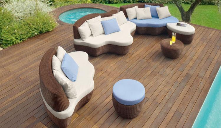 Set di mobili da giardino in rattan n.47