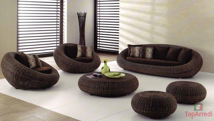 Set di mobili da giardino in rattan n.52