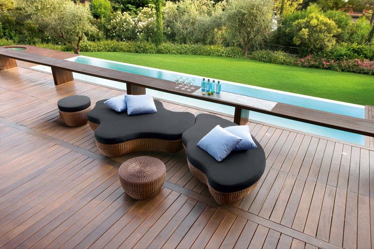 Set di mobili da giardino in rattan n.58