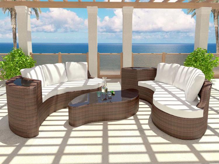 Set di mobili da giardino in rattan n.60