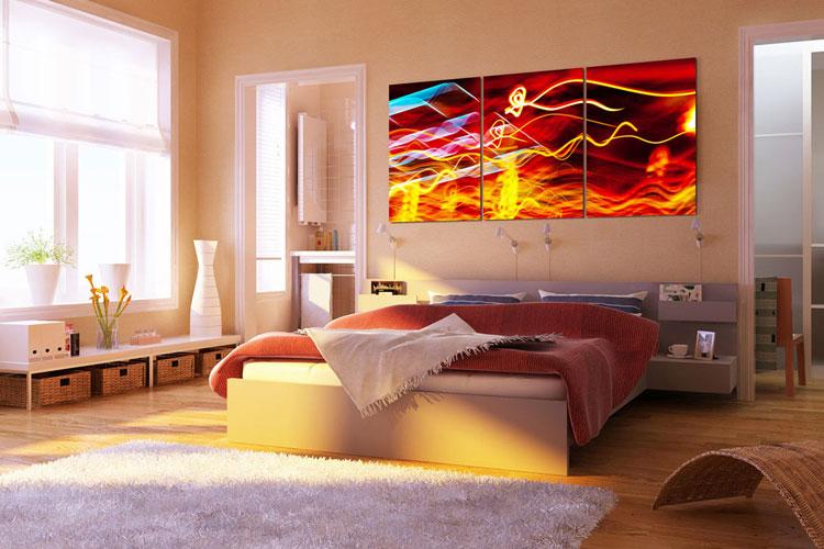 40 quadri moderni astratti per la camera da letto - Quadri sopra il letto ...