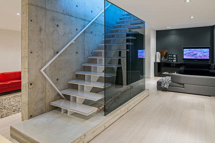 30 immagini di scale interne con ringhiere in vetro - Ringhiera scale interne ...