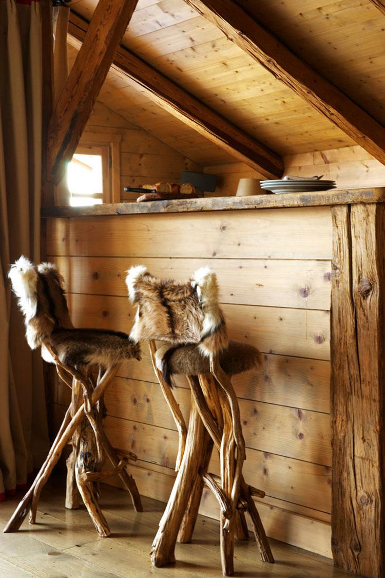 Angolo bar da realizzare a casa in stile rustico n.01