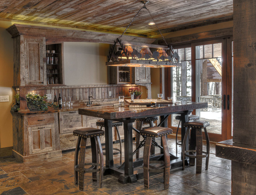 Salotto Rustico In Pietra Con Cucina A Vista Interior Design: Cucine ...