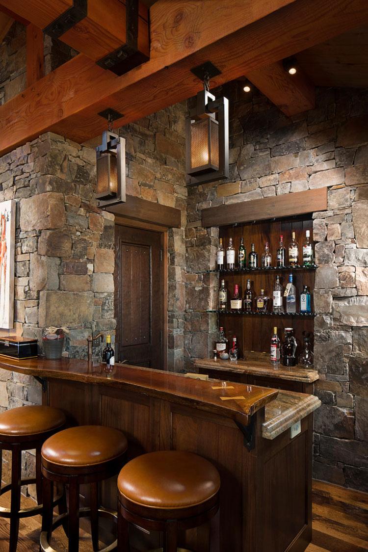 16 esempi di angolo bar in casa con arredamento rustico - Arredamento casa rustica ...