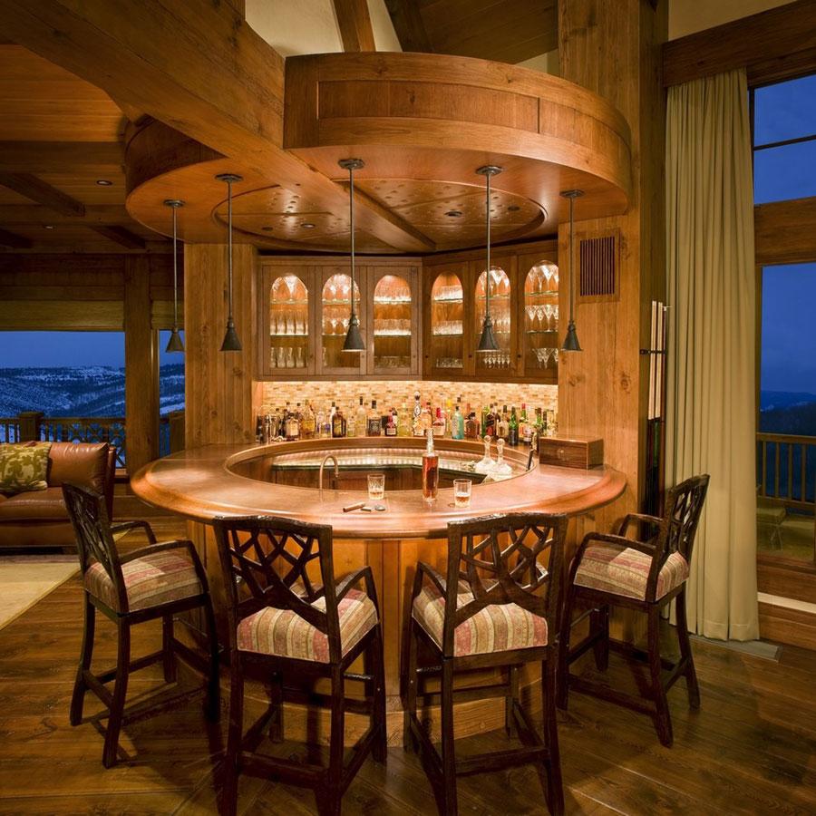 Angolo bar da realizzare a casa in stile rustico n.06
