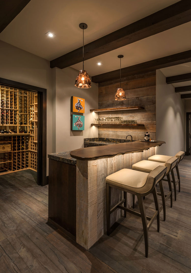 16 esempi di angolo bar in casa con arredamento rustico - Idee decoro casa ...