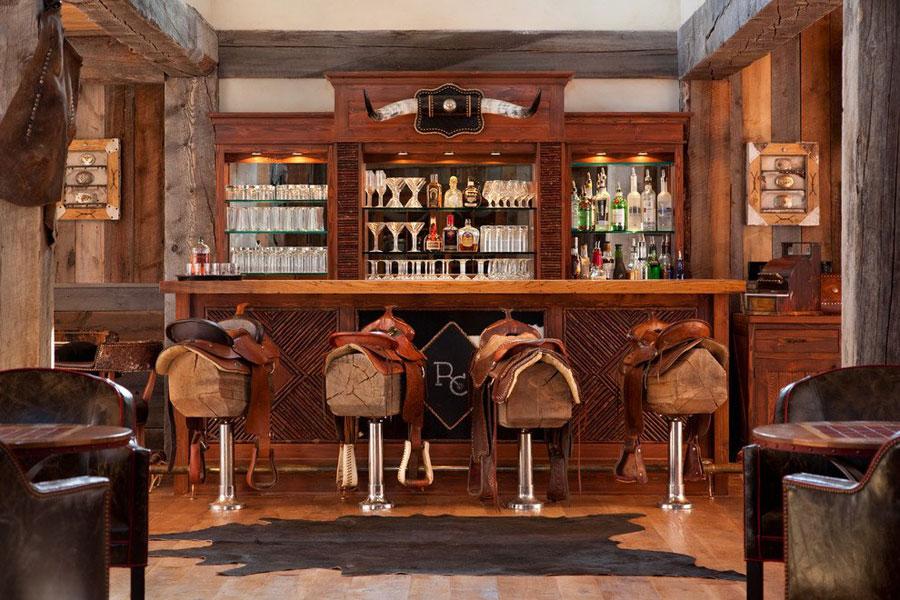 Angolo bar da realizzare a casa in stile rustico n.11