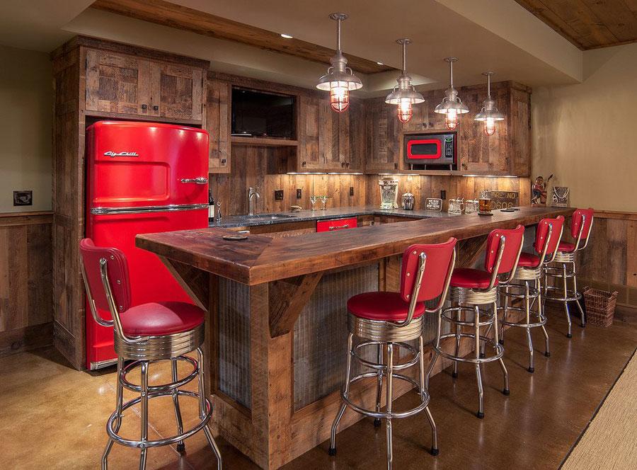 Angolo bar da realizzare a casa in stile rustico n.12