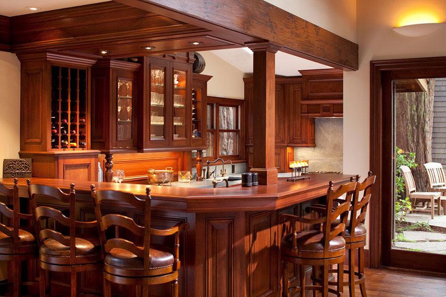 Angolo bar da realizzare a casa in stile rustico n.16