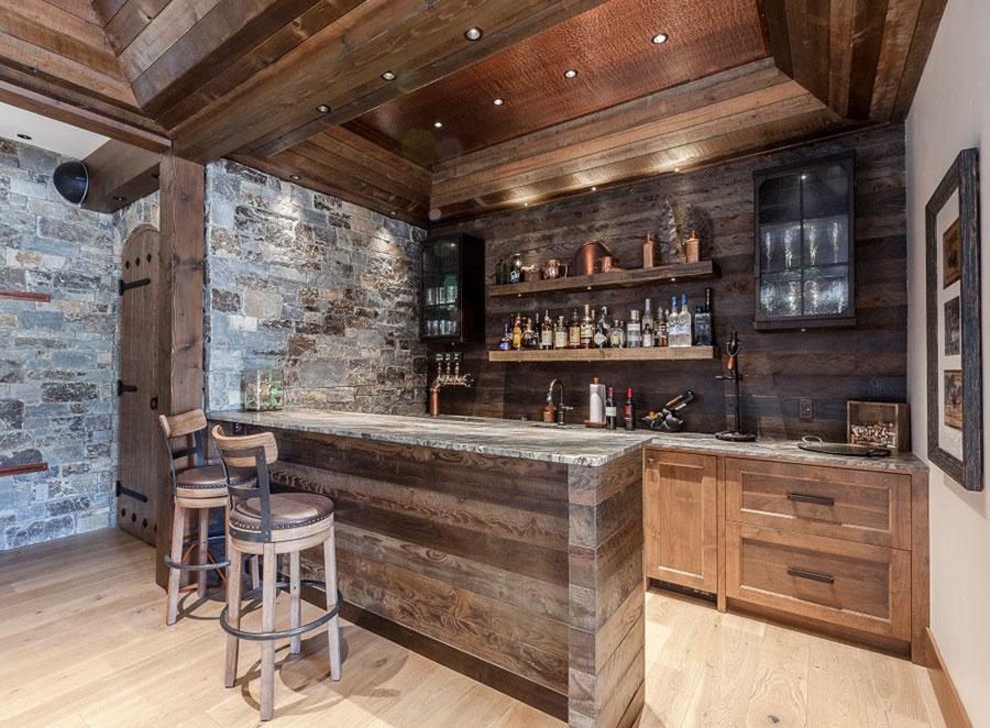 Angolo bar da realizzare a casa in stile rustico n.20