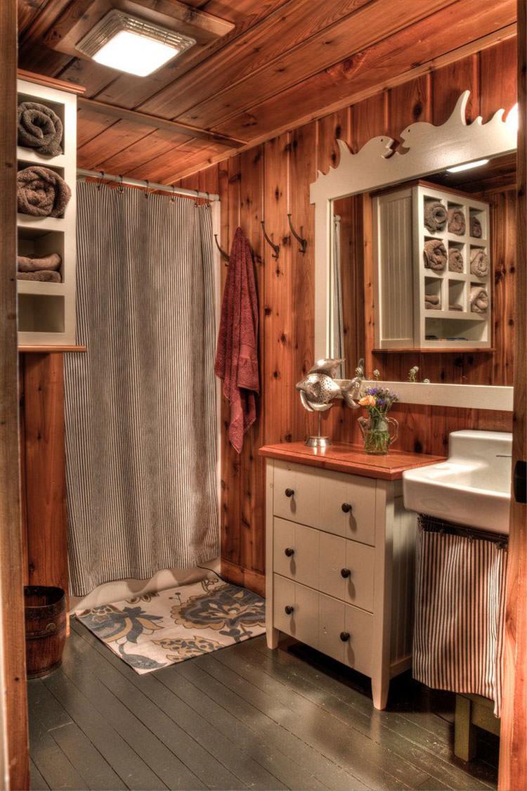 Bagno Rustico Realizzato Pietra E Legno Rustic Design : Foto di bagni rustici per idee arredo con questo