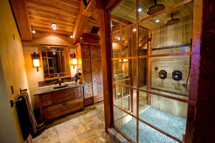 Foto di 25 bagni rustici per idee di arredo con questo stile