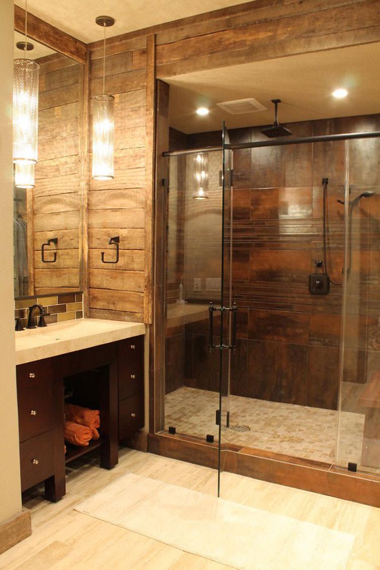 foto di 25 bagni rustici per idee di arredo con questo