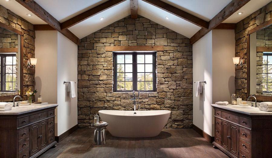 Mobili Rustici Bagno : Foto di 25 bagni rustici per idee di arredo con questo stile
