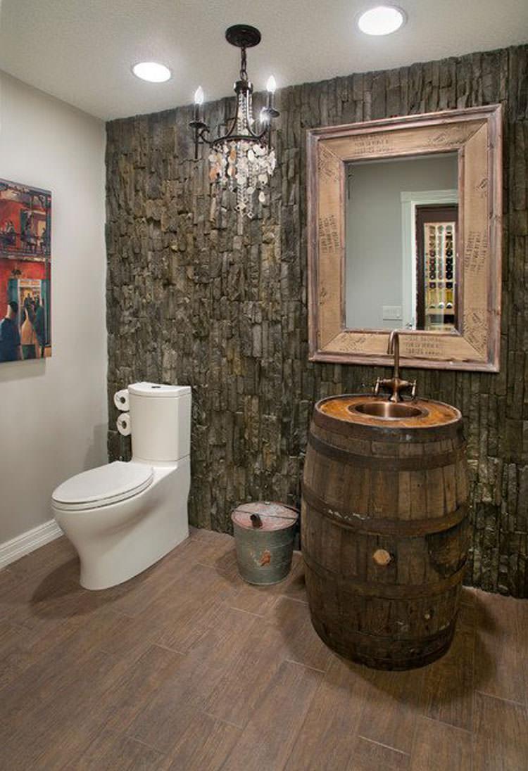 foto di 25 bagni rustici per idee di arredo con questo stile ... - Placcaggi Bagni Moderni