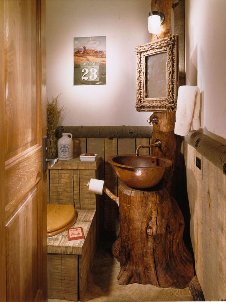 Bagno in stile rustico n.16