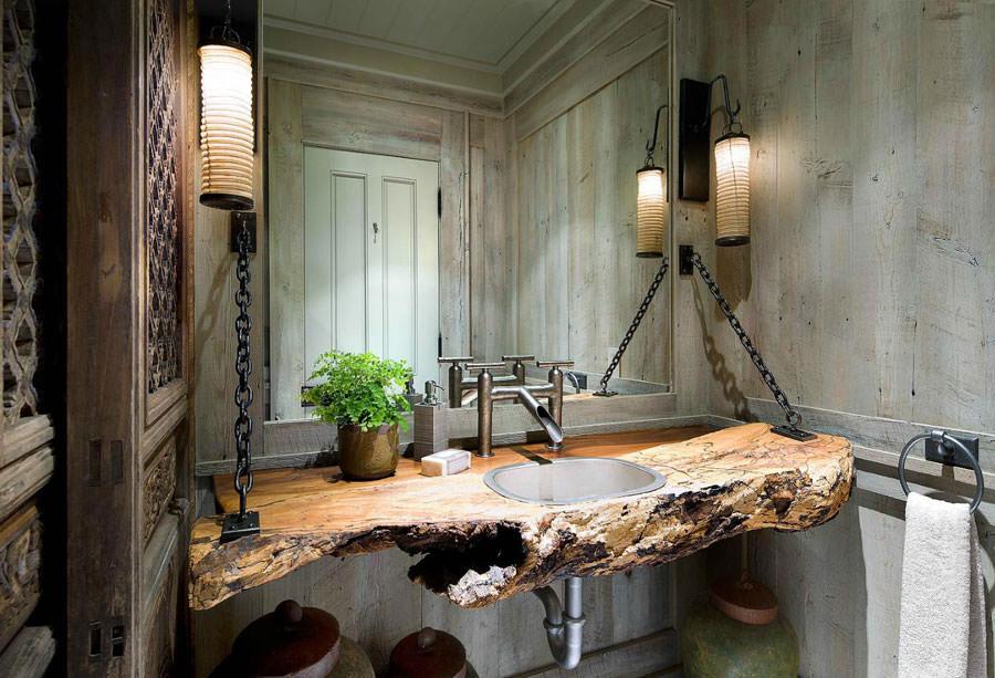 foto di 25 bagni rustici per idee di arredo con questo stile ... - Arredo Bagno Idee Originali