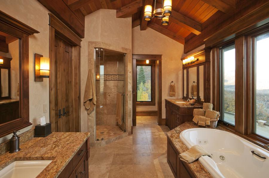 Foto di bagni rustici per idee di arredo con questo stile