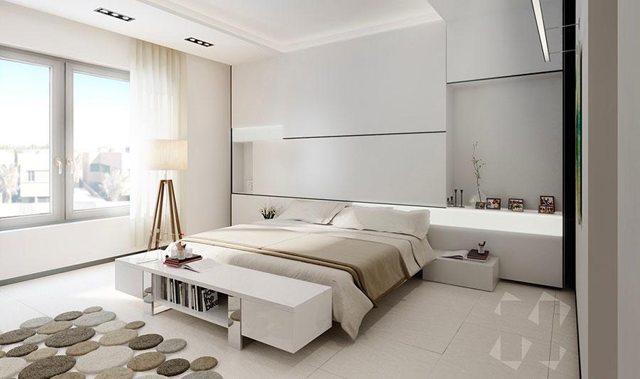 Idee per arredare una camera da letto bianca moderna n.02