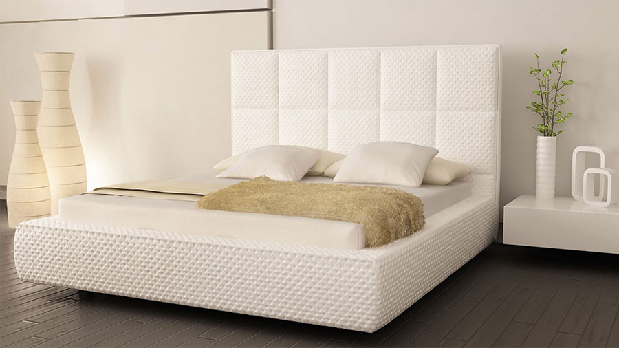 Idee per arredare una camera da letto bianca moderna n.07
