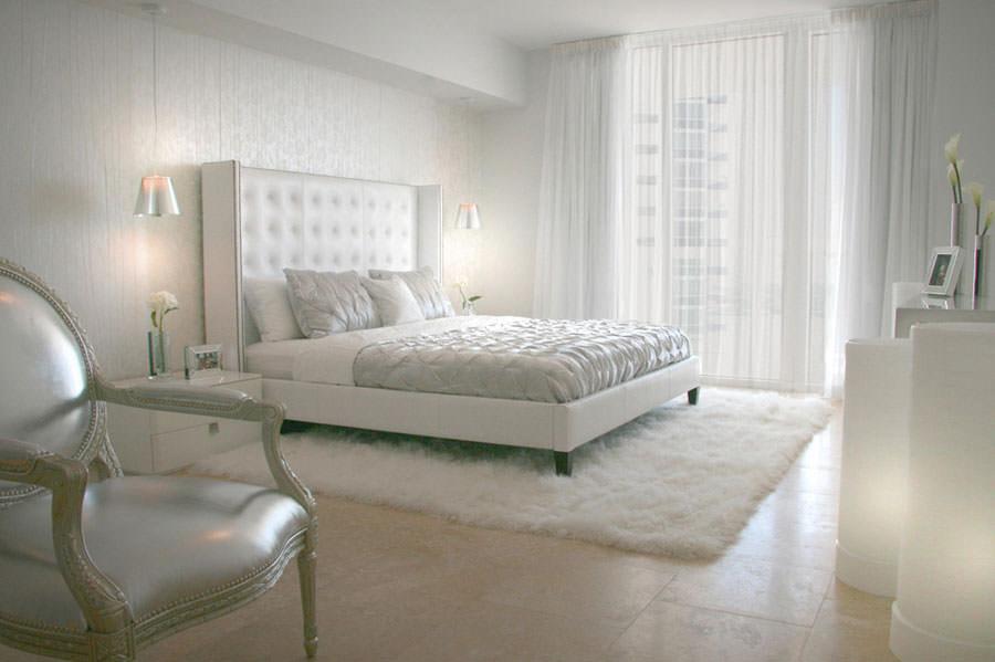 Foto di camera da letto bianca n.05