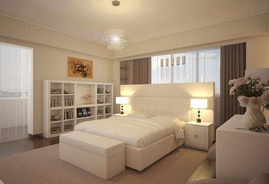 Foto di camera da letto bianca n.10