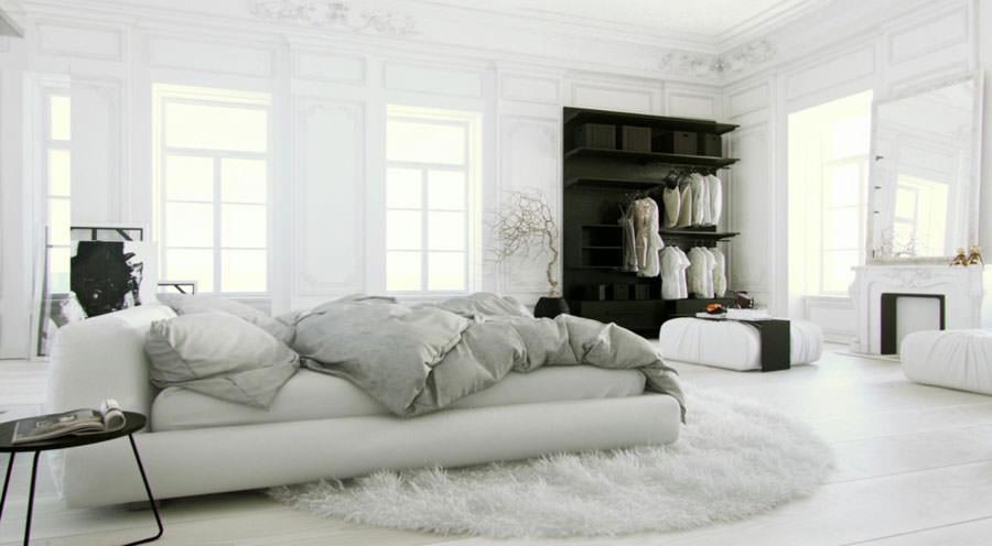 Foto di camera da letto bianca n.11