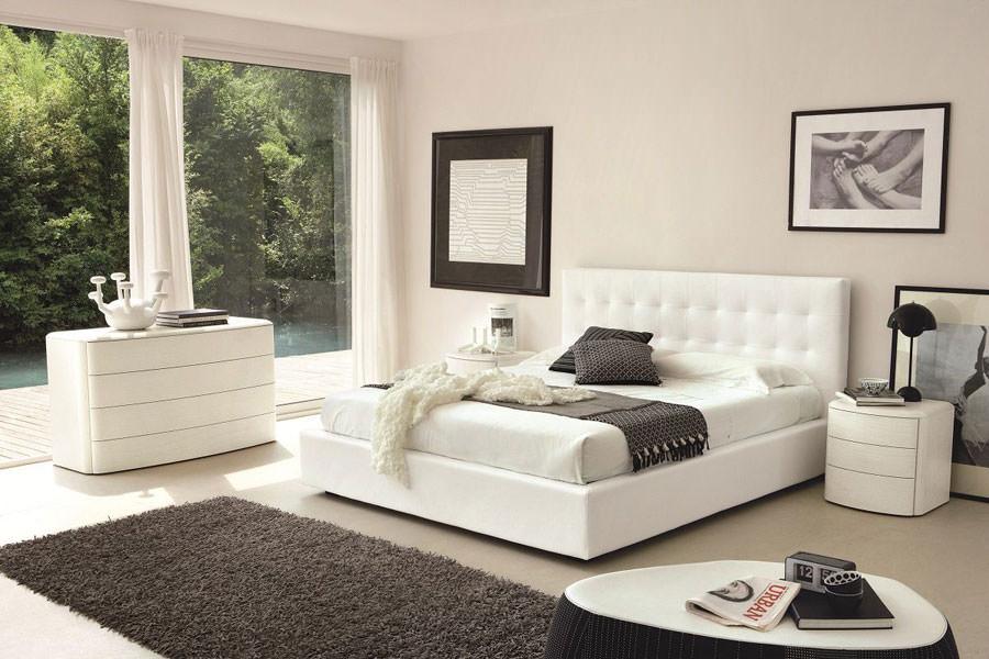 Foto di camera da letto bianca n.13