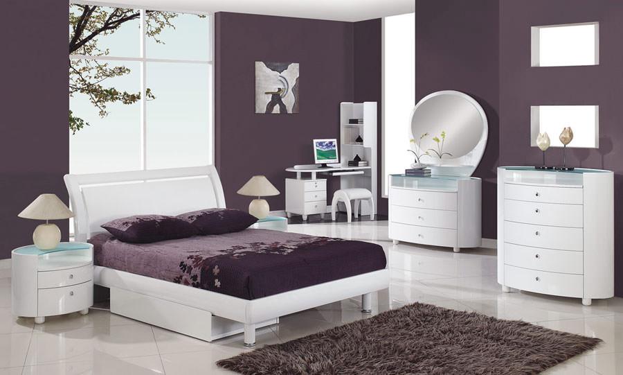 Foto di camera da letto bianca n.20