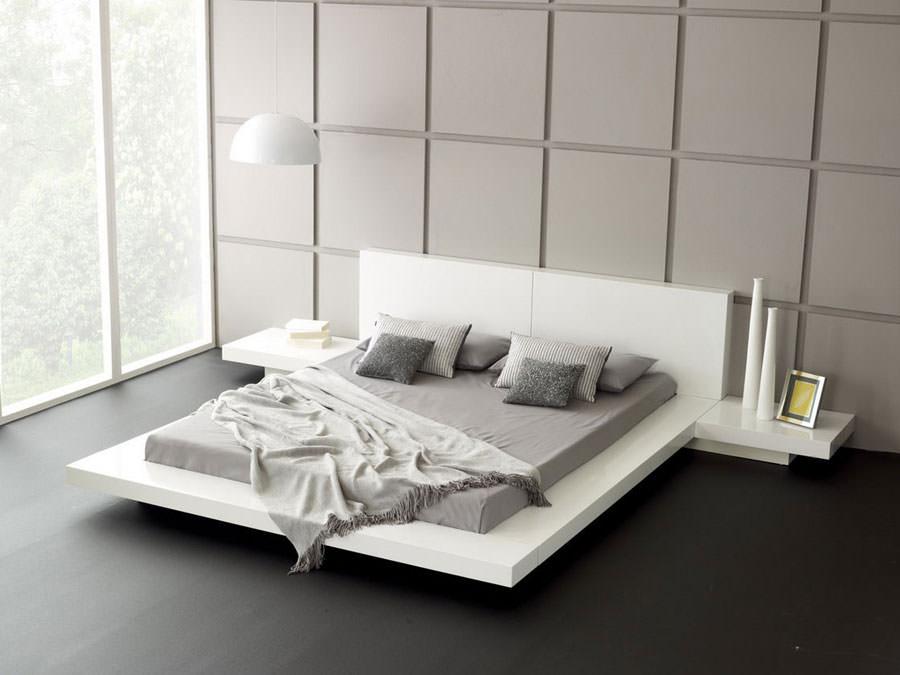 Foto di camera da letto bianca n.21