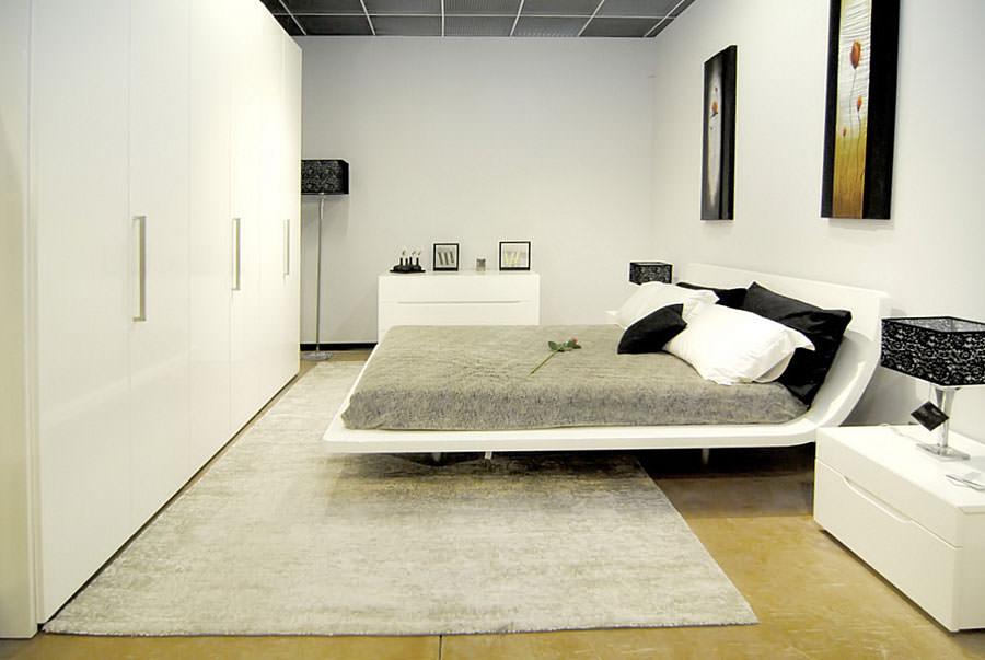 Foto di camera da letto bianca n.24